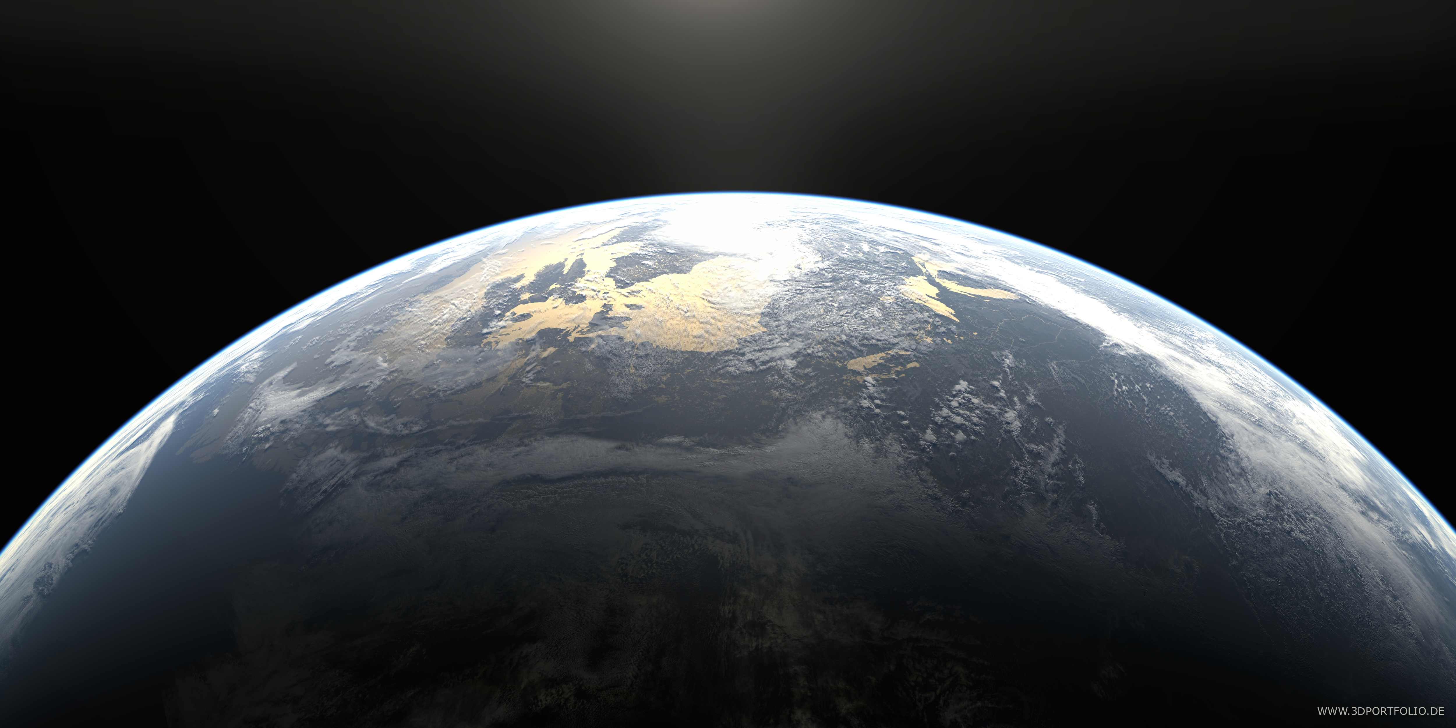earth in cycles with volumetric atmosphere